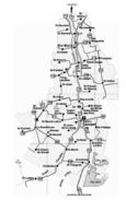 Carte géographique récente de la Beauce.