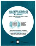 Violences sexuelles en milieu universitaire au Québec [ressource électronique] : rapport de recherche de l'enquête ESSIMU
