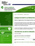 Lexique de mots alternatifs [ressource électronique]