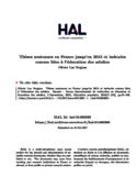 Thèses soutenues en France jusqu'en 2015 et indexées comme liées à l'éducation des adultes [ressource électronique]