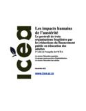 Les impacts humains de l'austérité [ressource électronique] : le portrait de trois organisations fragilisées par les réductions du financement public en éducation des adultes