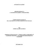 Représentations sociales [ressource électronique] : « femme leader, leader idéal et leadership personnel », une approche biographique du leadership
