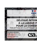 Délégué interministériel à la langue française pour la cohésion sociale [ressource électronique] : perception de l'illetrisme dans le monde du travail