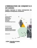 L'immigration de conjoint-e-s au Canada [ressource électronique] : synthèse historique et enjeux contemporains des politiques d'immigration canadiennes