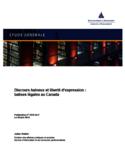 Discours haineux et liberté d'expression [ressource électronique] : balises légales au Canada