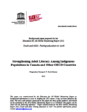 Strengthening adult literacy among indigenous populations in Canada and other OECD countries [ressource électronique]