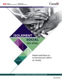Isolement social des aînés [ressource électronique] : regard spécifique sur la communauté LGBTQ au Canada