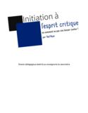 Initiation à l'esprit critique [ressource électronique] : ou comment ne pas s'en laisser conter!