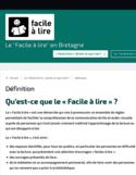 """Le """" facile à lire """" en Bretagne [ressource électronique]"""
