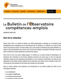 Le Bulletin de l'Observatoire compétences-emplois [ressource électronique] : numéro spécial