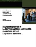 De l'administration à la gouvernance des universités : progrès ou recul? : l'expérience du Québec