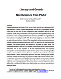 Literacy and growth [ressource électronique] : new evidence from PIAAC