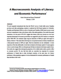 A macroeconomic analysis of literacy and economic performance [ressource électronique]