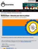 Mathématiques [ressource électronique] : démarches pour mises en pratique : compléments au cadre de référence pédagogique