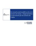 Un travail social modifié au fur et à mesure du temps [ressource électronique] : réappropriation et sens donné par les acteurs de l'alpha