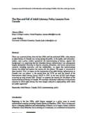 The rise and fall of adult literacy [ressource électronique] : policy lessons from Canada