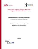 Violences faites aux femmes et services offerts par les organismes féministes en Outaouais [ressource électronique]
