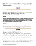 Éducation ouverte et licences libres [ressource électronique] : partager et protéger