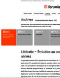 Littératie [ressource électronique] : évolution au cours des dix dernières années