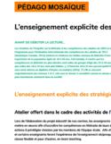 L'enseignement explicite des stratégies de lecture [ressource électronique]