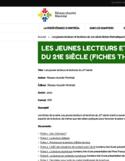 Les jeunes lecteurs et lectrices du 21e siècle [ressource électronique] : fiches thématiques