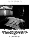 Regards sur la première vague [ressource électronique] : rapport préliminaire de l'expérience des femmes et des personnes enceintes en temps de crise
