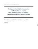 Pratiques et stratégies innovantes en formation en emploi dans des entreprises du Québec : lever les obstacles à la participation
