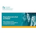 Essai pilote de la CLA en Ontario [ressource électronique]