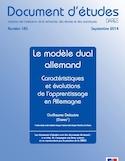 Le modèle dual allemand [ressource électronique] : caractéristiques et évolutions de l'apprentissage en Allemagne
