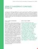 L'intégration de la dimension de genre dans la lutte et l'adaptation aux changements climatiques au Québec [ressource électronique] : fiches thématiques