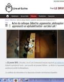 Actes du colloque Débattre, argumenter, philosopher avec des apprenants en alphabétisation [ressource électronique] : oui bien sûr !