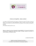 """Violence et inégalités [ressource électronique] : même combat! : mémoire de la Fédération des maisons d'hébergement pour femmes (FMRF) sur la politique en égalité présenté lors des consultations """"Ensemble pour l'égalité entre les femmes et les hommes"""", menées par le Secrétariat à la condition féminine du gouvernement du Québec"""