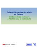 Collectivités-amies des aînés au Canada [ressource électronique] : guide de mise en œuvre à l'échelon de la collectivité