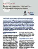 Réussir les programmes et campagnes d'alphabétisation à grande échelle [ressource électronique]