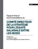 Rapport final et recommandations du Comité directeur de la stratégie pour l'équité salariale entre les sexes [ressource électronique]